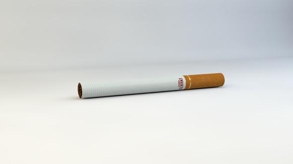 3DOcean Realistic Cigarette Model 2278447