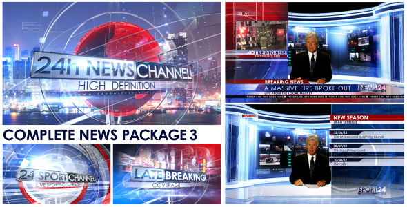 VideoHive Broadcast Design Complete News Package 3 2952872