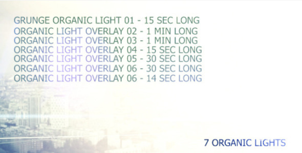 VideoHive Organic Light Leaks pack of 7 awesome lights 2585314