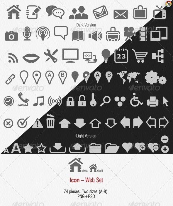 GraphicRiver Icon Web Set 133124