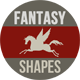 Fantasy Creatures Photoshop Shapes - GraphicRiver Item for Sale