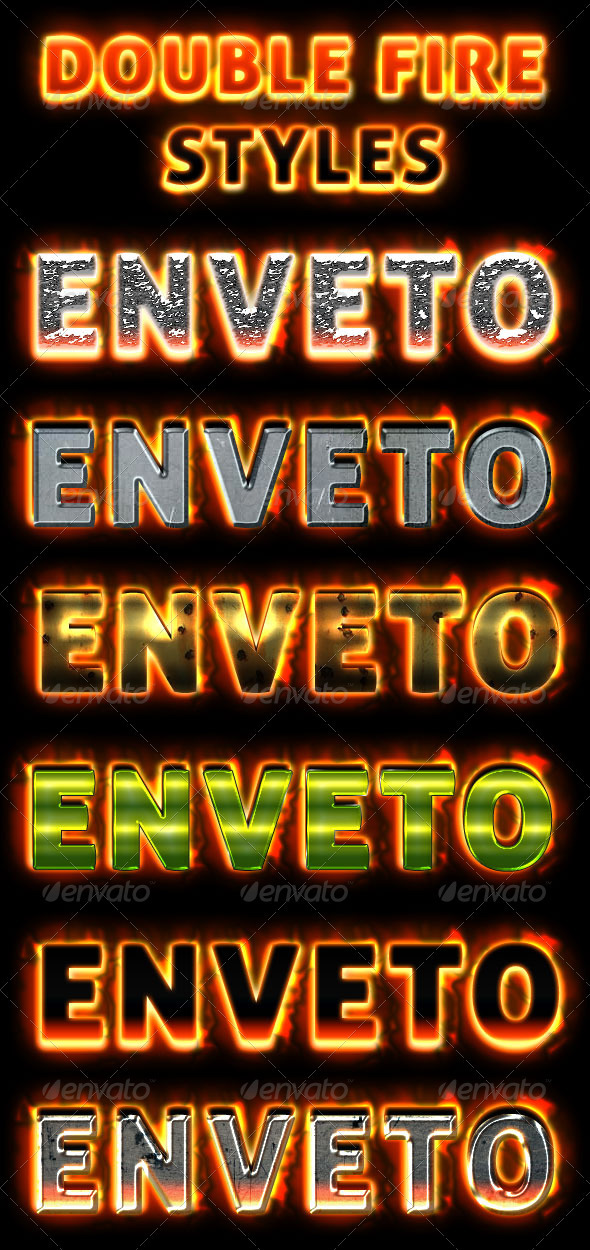 Double Fire Game Text Styles - Miscellaneous Web Elements