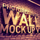 Photorealistic Wall Mock Up - GraphicRiver Item for Sale