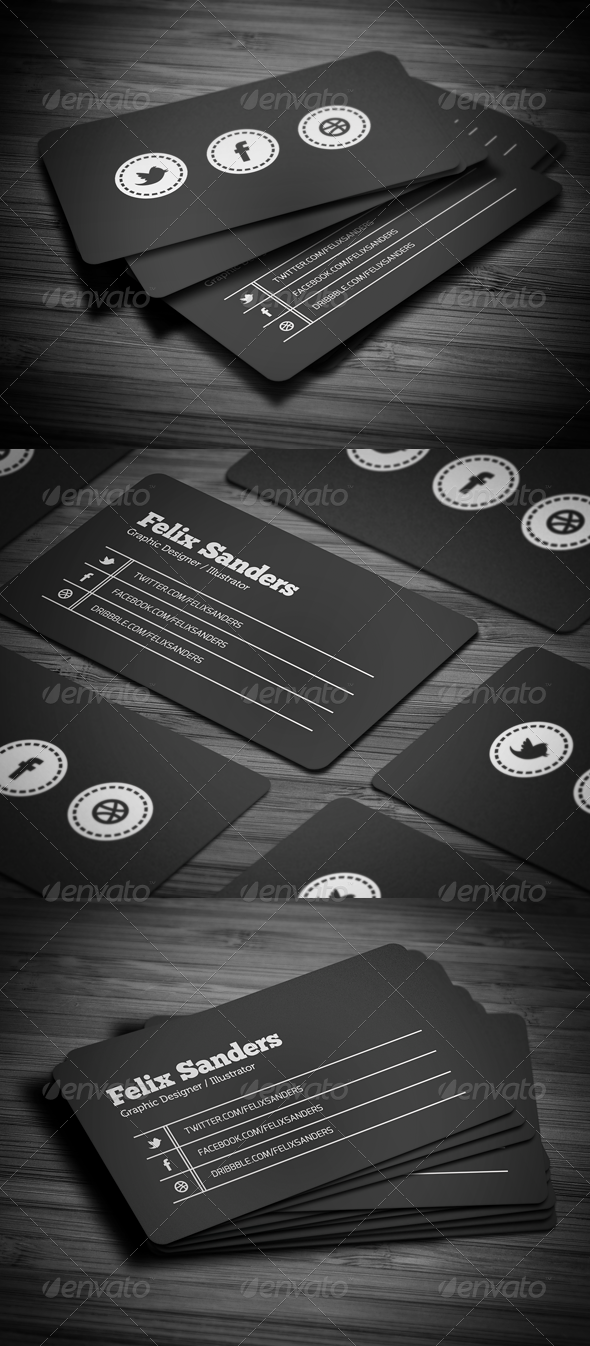 GraphicRiver Social Business Card 2955247