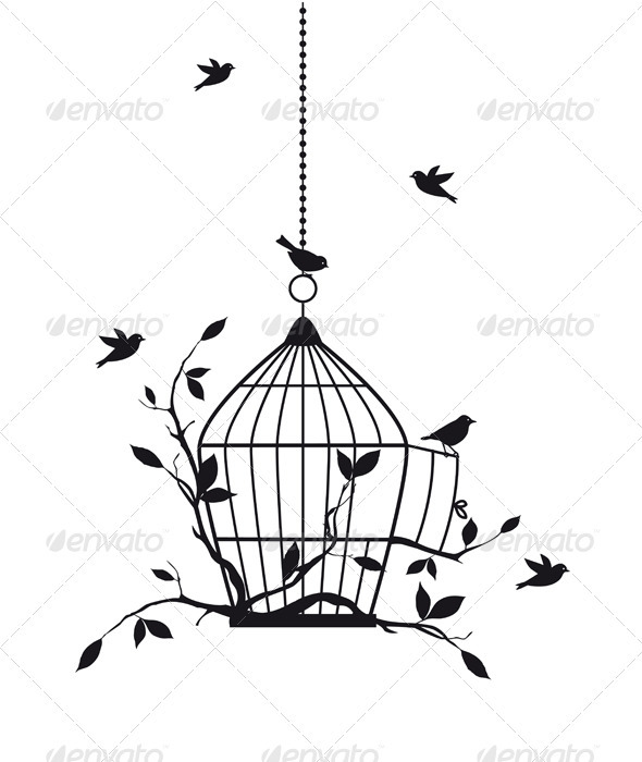 GraphicRiver Free Birds Vector 2955559