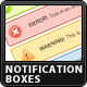 Clean Notification Boxes