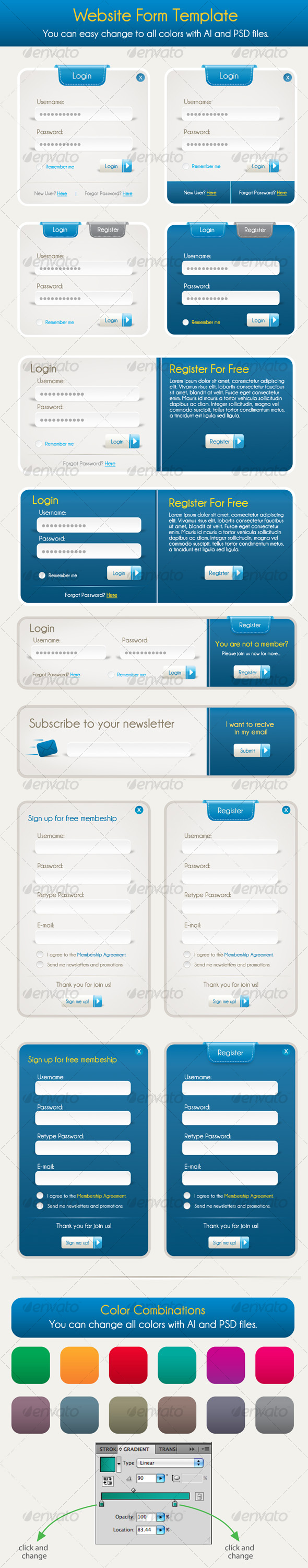 GraphicRiver Login Signup Collection 102433