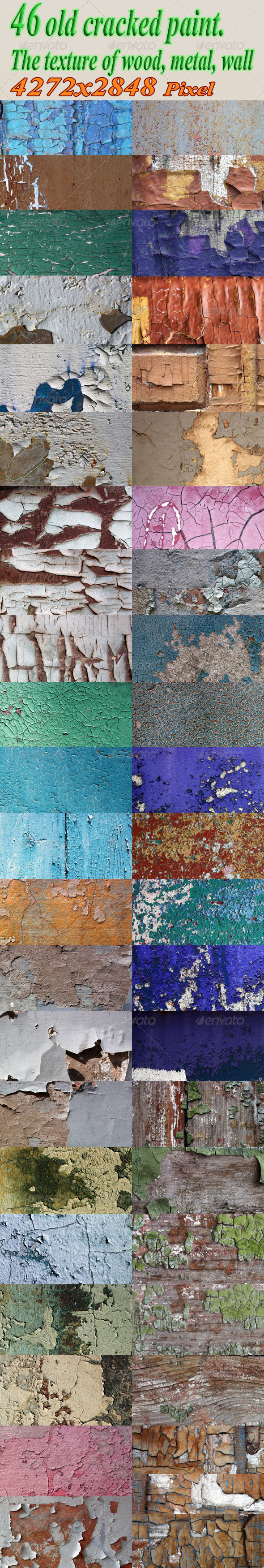 Abstract Old Grunge Cracked Paint Background Texture - Industrial / Grunge Textures