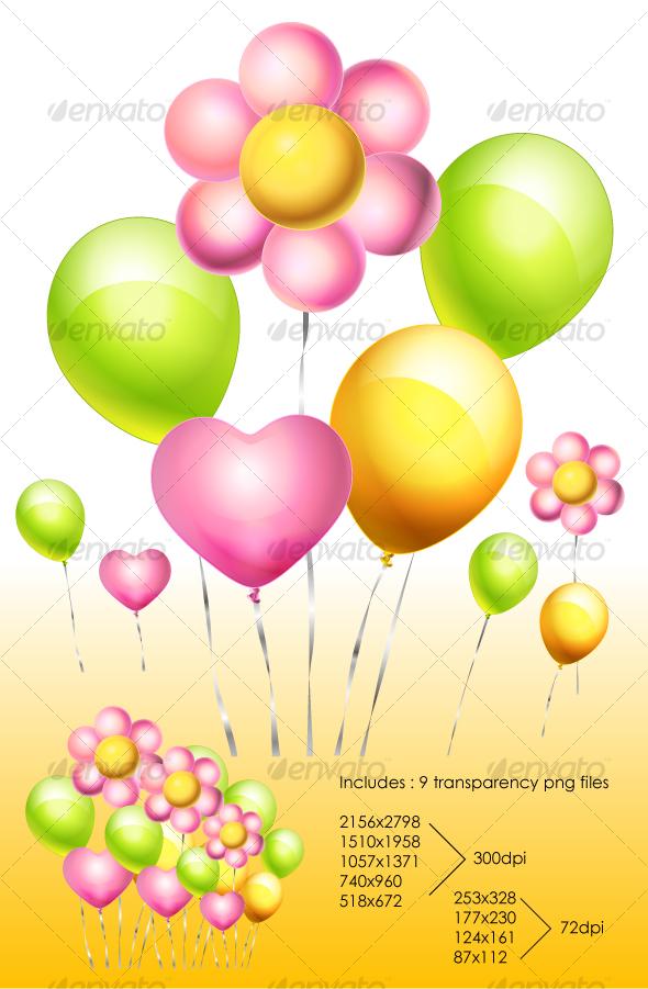 GraphicRiver Flower Balloon 103547