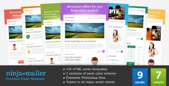 ThemeForest Ninja Mailer Premium Email Template 2956506