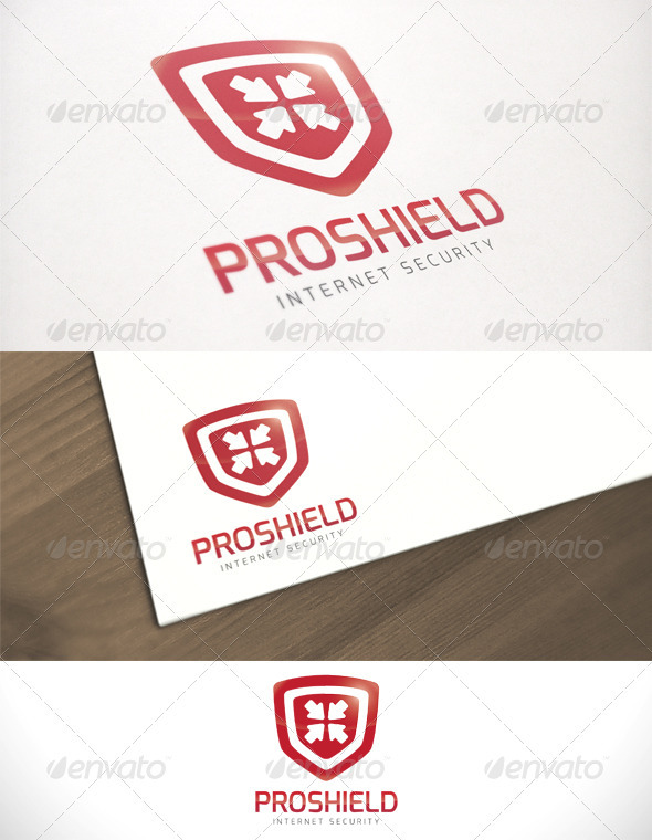 Pro Shield Internet Security Logo Template