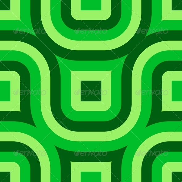 Green Truchet Pattern (Seamless) - Stock Photo - Images