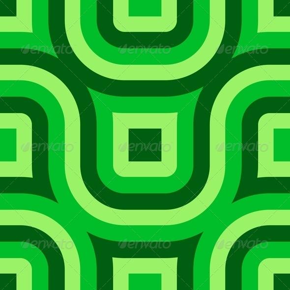 Green Truchet Pattern (Seamless) - Stock Photo - Images