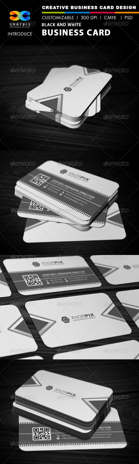 Black and White Business Card - Corporate Business Cards