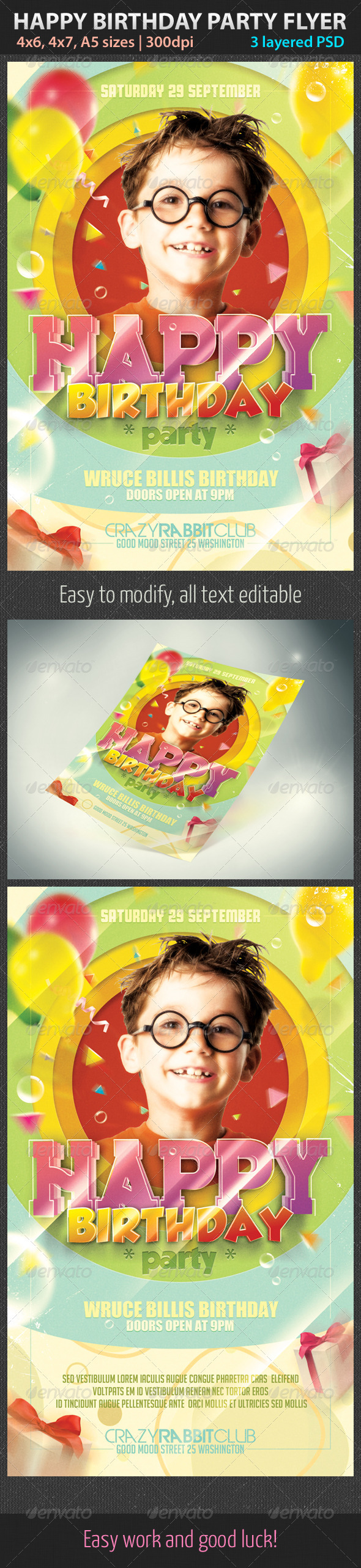 GraphicRiver Happy Birthday Party Flyer 2958296