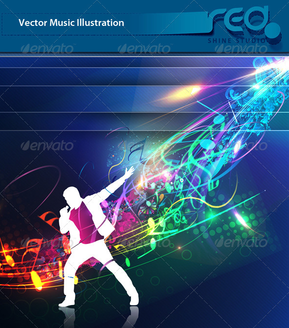 Dance Party Vector Template Design_5 - Decorative Vectors