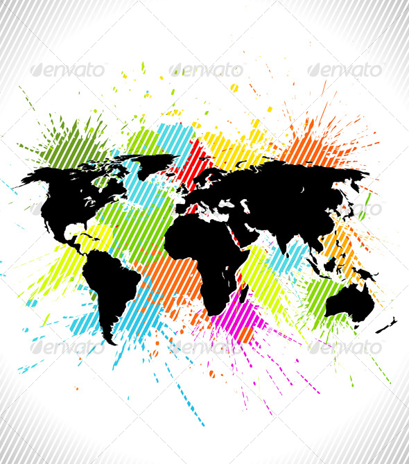 World Map Background - Backgrounds Decorative