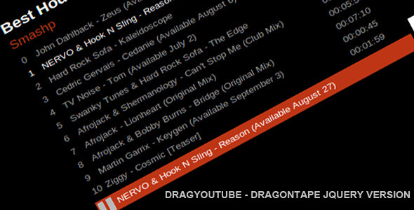 CodeCanyon DragYoutube Dragontape Player Jquery Version 2948827