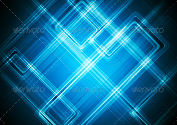 Hi-tech blue background - Abstract Conceptual
