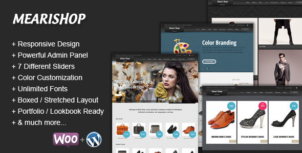 ThemeForest Mearishop a Clean Responsive E-commerce Theme 2920813