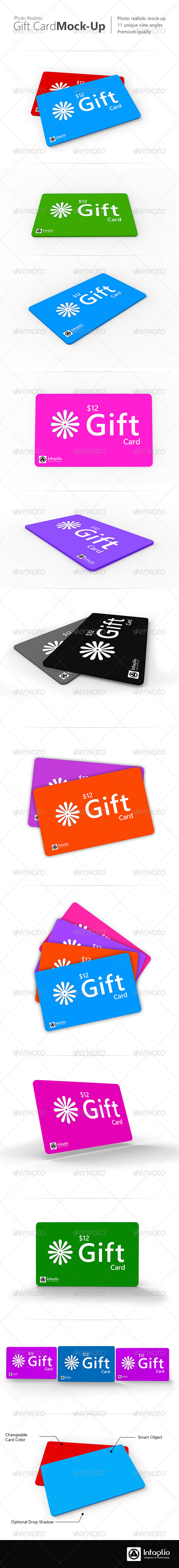 Gift Card Mockup - Miscellaneous Product Mock-Ups