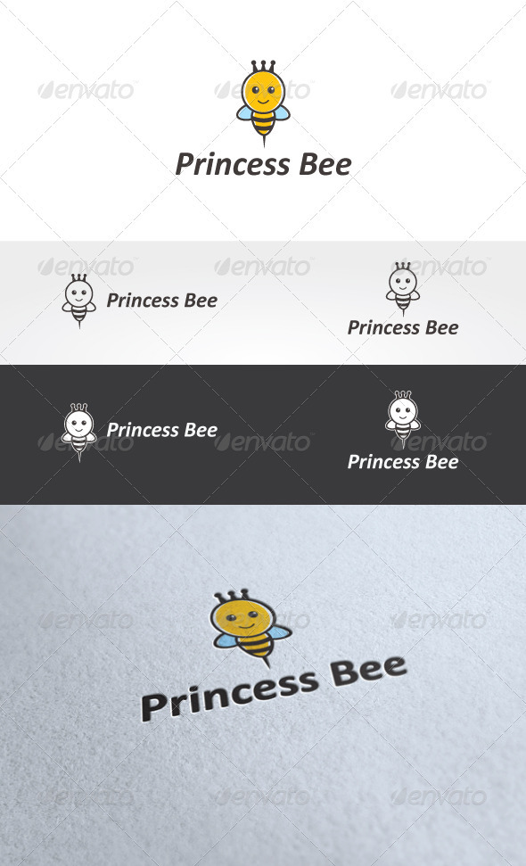 Princess Bee Logo Template - Animals Logo Templates