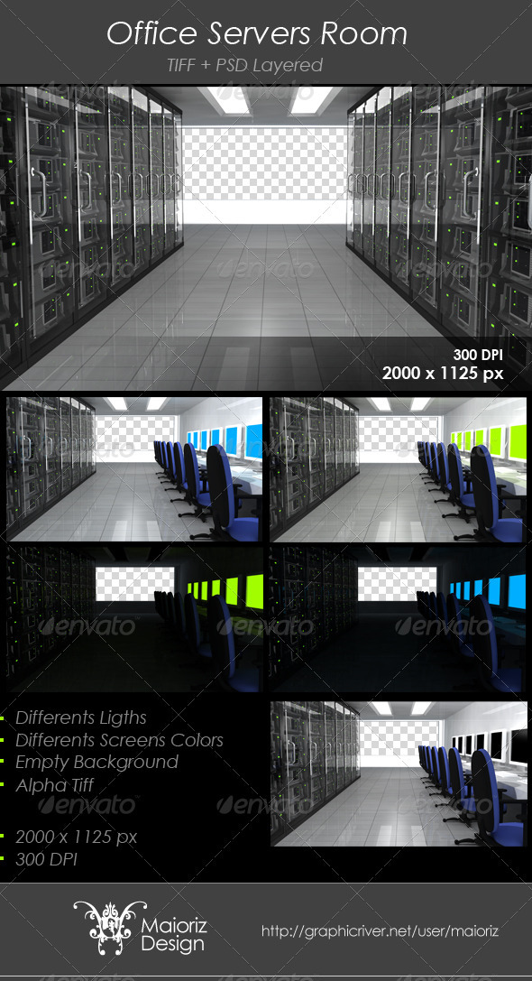 GraphicRiver Office Servers Room 2945925