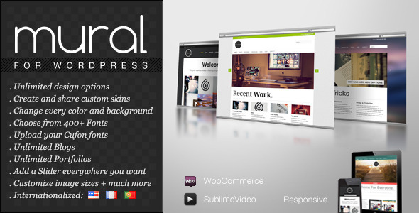 ThemeForest Mural Business & Portfolio WordPress Theme 2453593
