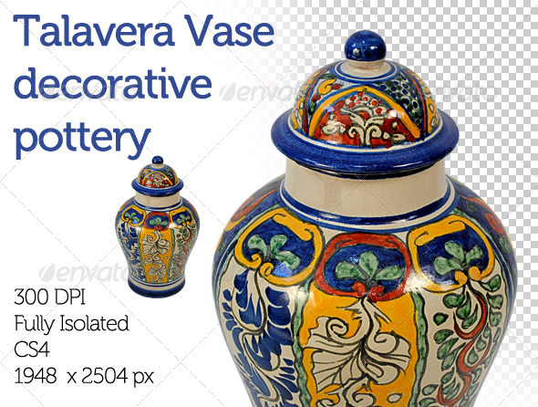 Mexican Folkloric Vase