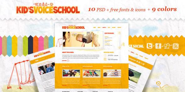 Kids Voice School - PSD Templates