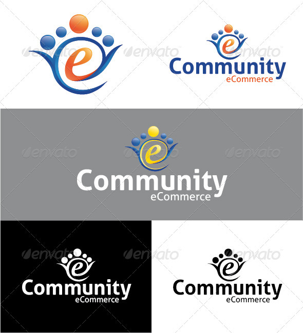 Community eCommerce Logo - Humans Logo Templates