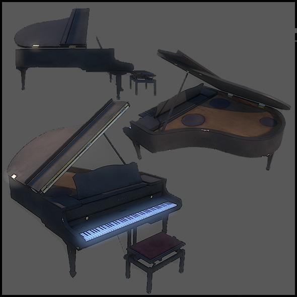 3DOcean Grand Piano 2962902