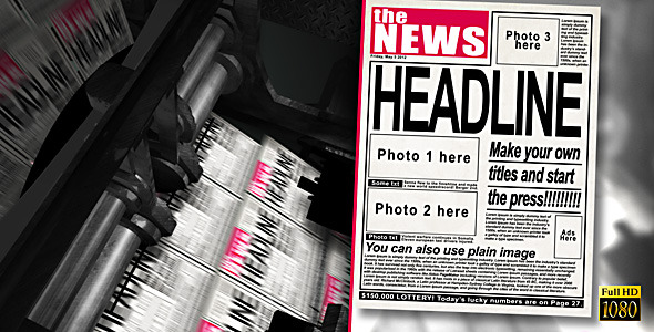 VideoHive Press Machine Headlines 2963302