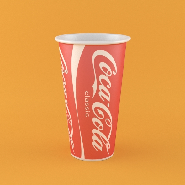 Coca Cola Paper Cup - 3DOcean Item for Sale
