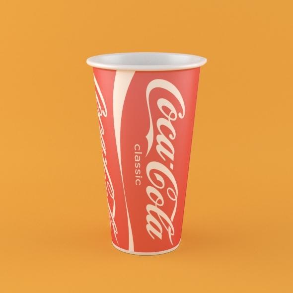 3DOcean Coca Cola Paper Cup 2963684