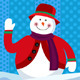 Snowman Waving Happily - GraphicRiver Item for Sale