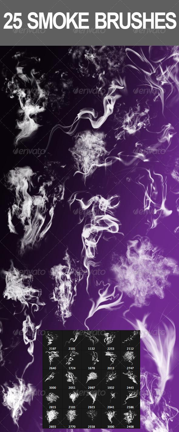 GraphicRiver 25 Smoke Brushes 2964287