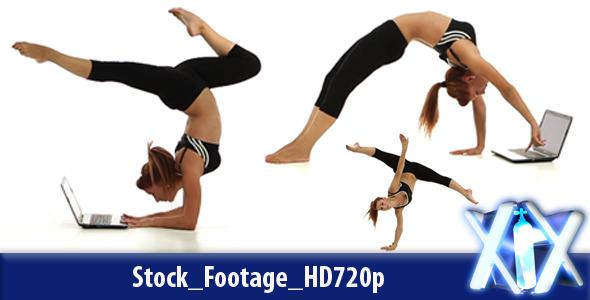 VideoHive Flexible Woman Typing 2964552