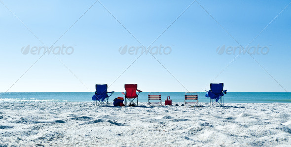 Picture your family at the beach - Stock Photo - Images