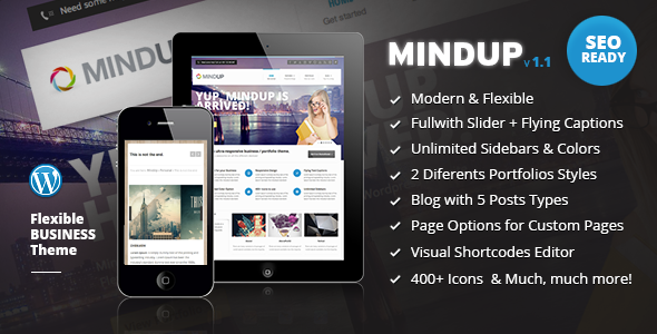 ThemeForest MindUp A Flexible Corporate Wordpress Theme 2911876