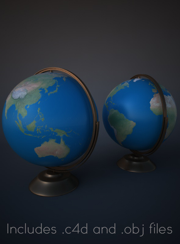 Modern Globe for Cinema 4D - 3DOcean Item for Sale