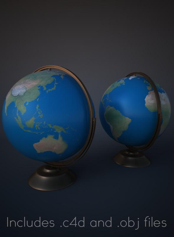 3DOcean Modern Globe for Cinema 4D 2964852