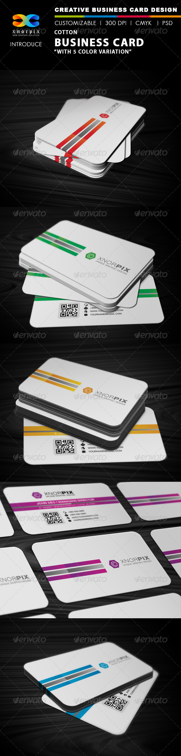 Cotton Business Card - Corporate Business Cards