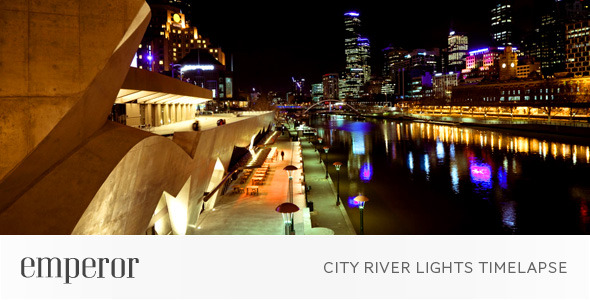 City River Lights Timelapse