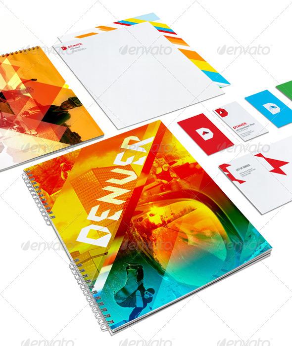 Portfolio Identity Branding Mock-up System - Stationery Print