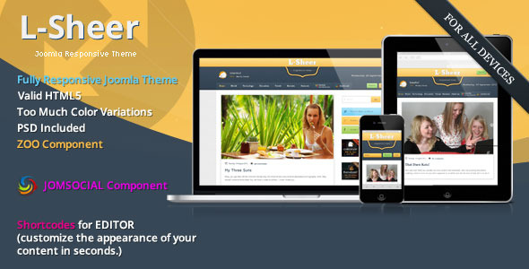 L-sheer - News & Magazine - JomSocial Joomla Template -