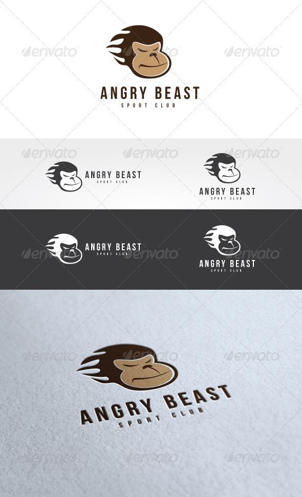 Angry Beast Logo Template - Animals Logo Templates