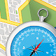 Streetmap with Compass - GraphicRiver Item for Sale