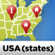US Vector Map (States Layered) - GraphicRiver Item for Sale