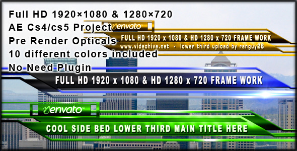 After Effects Project - VideoHive Cool side bed 304890
